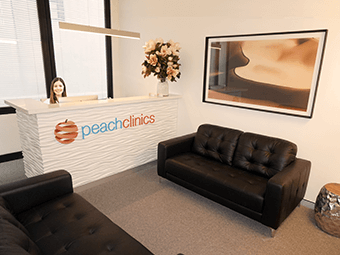Peach Clinics reception desk