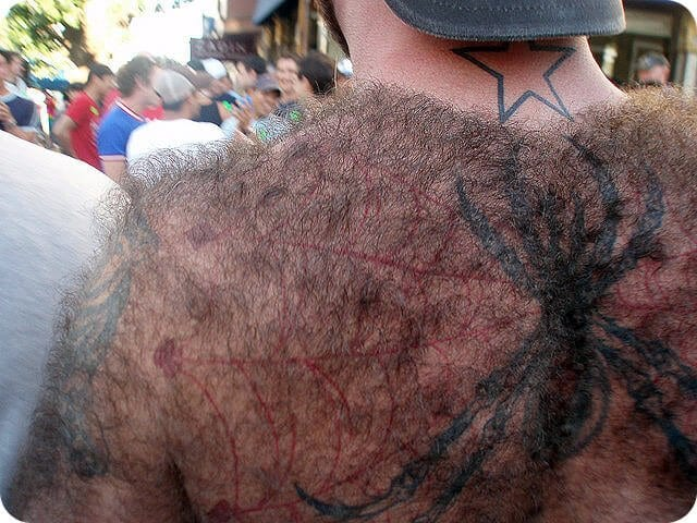 tattoo hairy back