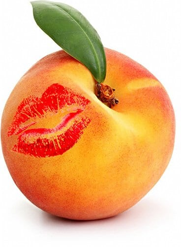lipstick kissed peach